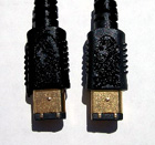 Gold-Plated Firewire 6-pin to 6-pin Cable - 10 Meter